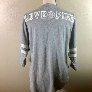 NWOT- Victoria's Secret Pink Over Sized Gray Tee